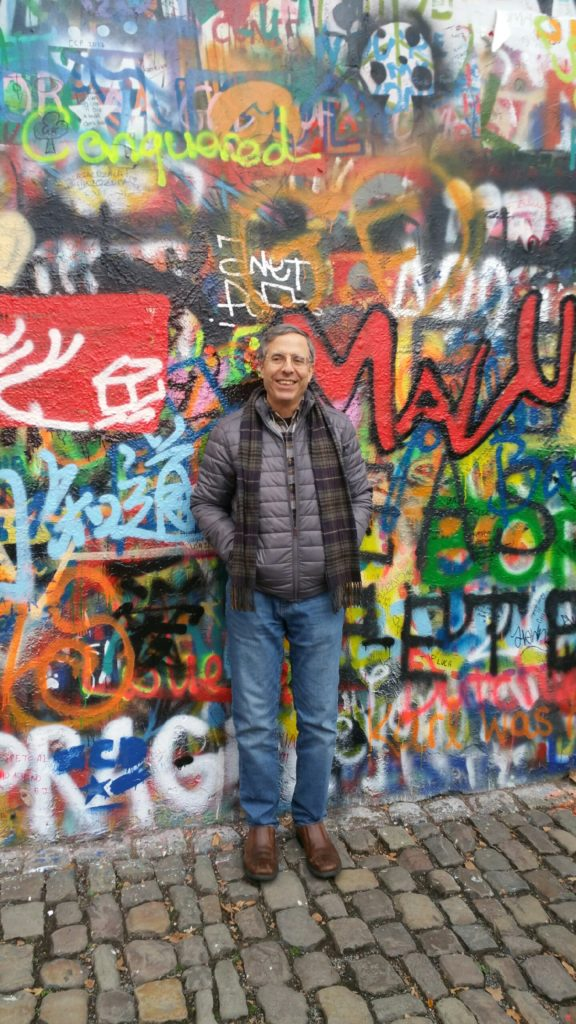 David Deutsch - Lennon Wall - Prague